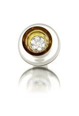 14mm (M) Glass Bowl Slide YELLOW w/ 7-Hole Glass Screen Honeycomb