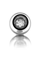 14mm (M) Glass Bowl Slide SMOKE w/ 7-Hole Glass Screen Honeycomb