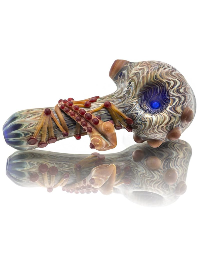 Witch DR Witch DR Frosted Glass SAG Frog Dry Pipe (E)