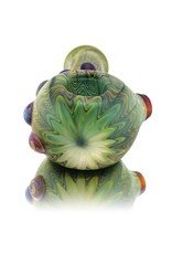 Witch DR Witch DR Frosted Glass Wrap & Rake Bent Hammer Dry Pipe (A)