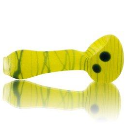 SAND & FIRE SOLD Sand and Fire Marble Fritter Frosted Glass Dry Pipe (I)