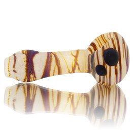 SAND & FIRE SOLD Sand and Fire Marble Fritter Frosted Glass Dry Pipe (K)