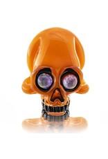 AKM SOLD AKM Orange Crayon Skull Pendant
