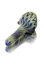 Witch DR Dry Hand Pipe Frosted Glass Chevron SAG (A) by Witch DR