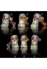 Brad Tenner Brad Tenner Red Eyes Skull Pipe (A) BT Glass