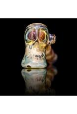Brad Tenner Brad Tenner Red Eyes Skull Pipe (B) BT Glass