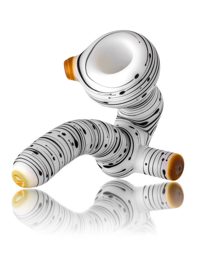 Witch DR Witch DR Birch Themed Frosted Glass Sherlock Dry Pipe (D)