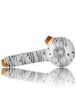 Witch DR Dry Hand Pipe Frosted Glass Englemann Birch Spoon (I)