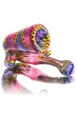 Dan Longden Glass Pipe by Dan Longden Glass Sherlock Hand Pipe (A)