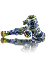 Dan Longden Glass Pipe by Dan Longden Light Green Hammer Dry Pipe (A)