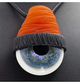 SOLD Glass Pendant OJ Beanie Eye Pendant by Junkie Glass (F)