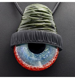 SOLD Glass Pendant Millennium Moss Beanie Eye Pendant by Junkie Glass (L)