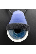 Glass Pendant Dense Blue Cheese Beanie Eye Pendant by Junkie Glass (G)