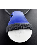Glass Pendant Blue Thunder Beanie Eye Pendant by Junkie Glass (H)