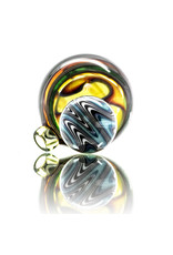 Witch DR 25mm Bubble Carb Cap UV Accented Fully Worked Multi Sectioned (D)