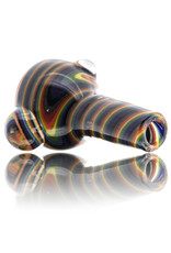 Vigil Glass 14mm Glass Bong Bowl Slide Golden Gate Tubing w/ 3 Clear Dots and Handle (J) by Vigil Glass