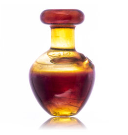 Witch DR Puffco Peak Bubble Carb Cap in Amber Purple Glass by Witch DR