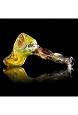 Brad Tenner Brad Tenner Glass Red Eyes Skull Pipe (E) BT Glass