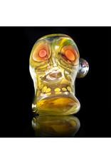 Brad Tenner Brad Tenner Glass Red Eyes Skull Pipe (E) BT Glass