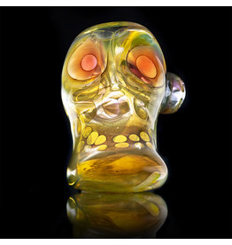 Brad Tenner SOLD Brad Tenner Glass Red Eyes Skull Pipe (E) BT Glass