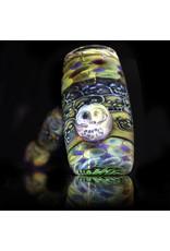 Hugh Glass Skull Tech Hammer W/ Skull Marble & Purple Dot Box by Hugh Glass