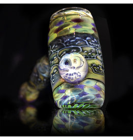 Hugh Glass SOLD Skull Tech Hammer W/ Skull Marble & Purple Dot Box by Hugh Glass