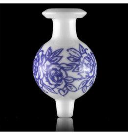 KURT B SOLD 30mm Glass Bubble Carb Cap by Kurt B China White (B)