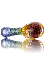 Plug-A-Nug Glass Pipe Dry Twist Color Frit Inside-Out Spoon with Honeycomb Fume Cap (I) by Plug-A-Nug