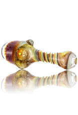 Plug-A-Nug Glass Pipe Dry Twist Color Frit Inside-Out Spoon with Honeycomb Fume Cap (L) by Plug-A-Nug