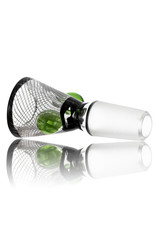 Madden Glass 14mm Glass Bong Bowl Funnel Slide in PORTLAND GREEN w/ Black Accents and Reticello Bowl by John Madden