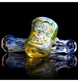 "Brad Tenner SOLD 2.75"" Brad Tenner Pocket Fume Skull Sidecar (A) BT Glass"