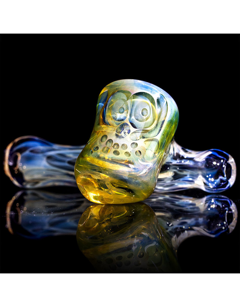 "Brad Tenner 2.75"" Brad Tenner Pocket Fume Skull Sidecar (A) BT Glass"