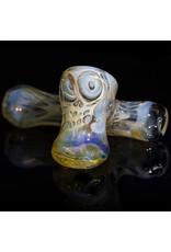 """Brad Tenner 4"""" Brad Tenner Pocket Fume Skull Sidecar (C) BT Glass"""