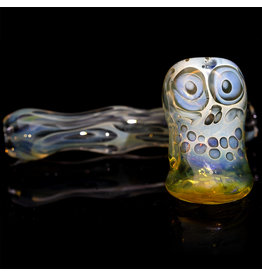 "Brad Tenner SOLD 3"" Brad Tenner Pocket Fume Skull Sidecar (D) BT Glass"
