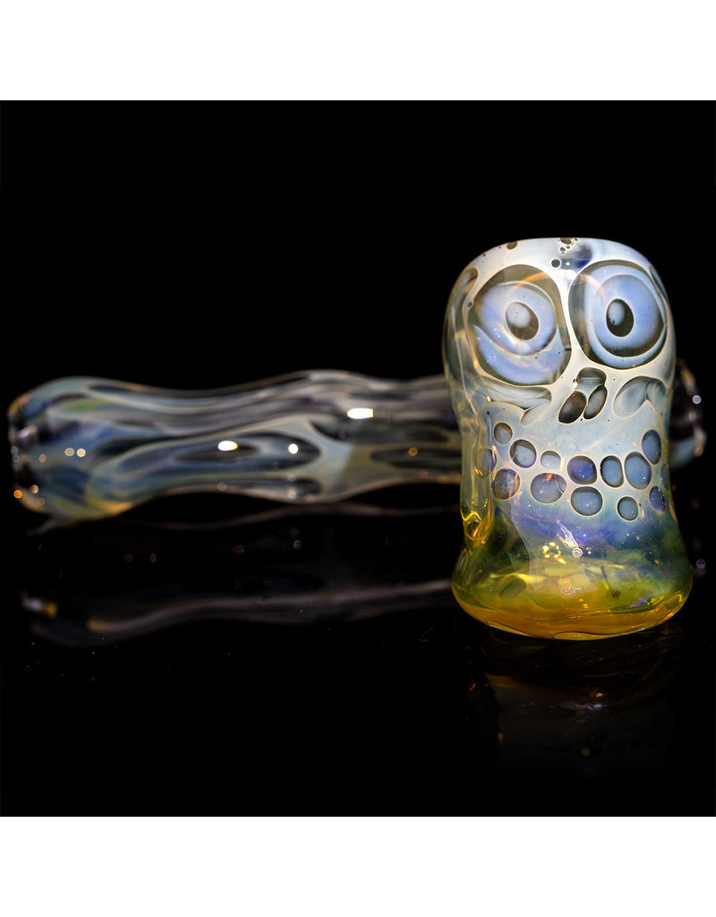 """Brad Tenner 3"""" Brad Tenner Pocket Fume Skull Sidecar (D) BT Glass"""