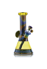 "Steve Sizelove 9"" Serum Bubbletrap Beaker w/ Off-Axis Neck by Steve Sizelove"