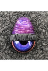 Royal Jelly over Moonstone Beanie w/ Royal Jelly Gold & Silver Space Iris Pendant #12 by Junkie Glass