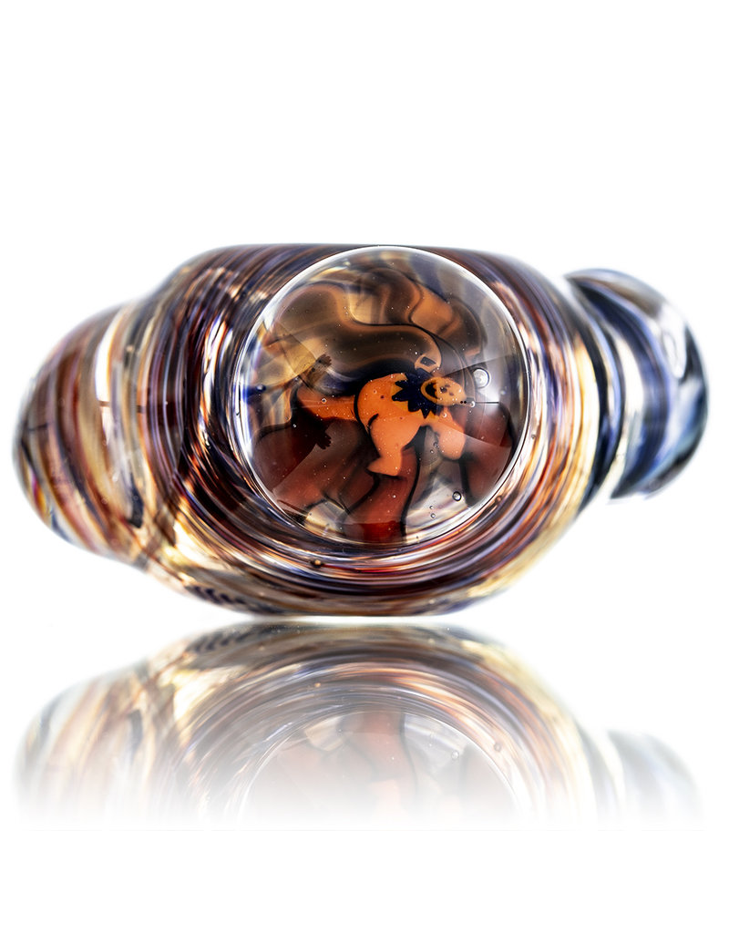 Jerry Kelly Millie Glass Dry Pipe #36 'Tripping Bear' by Jerry Kelly