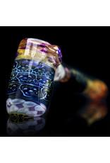 Hugh Glass Glass Pipe Dry Skull Tech Hammer (B) by Hugh Glass