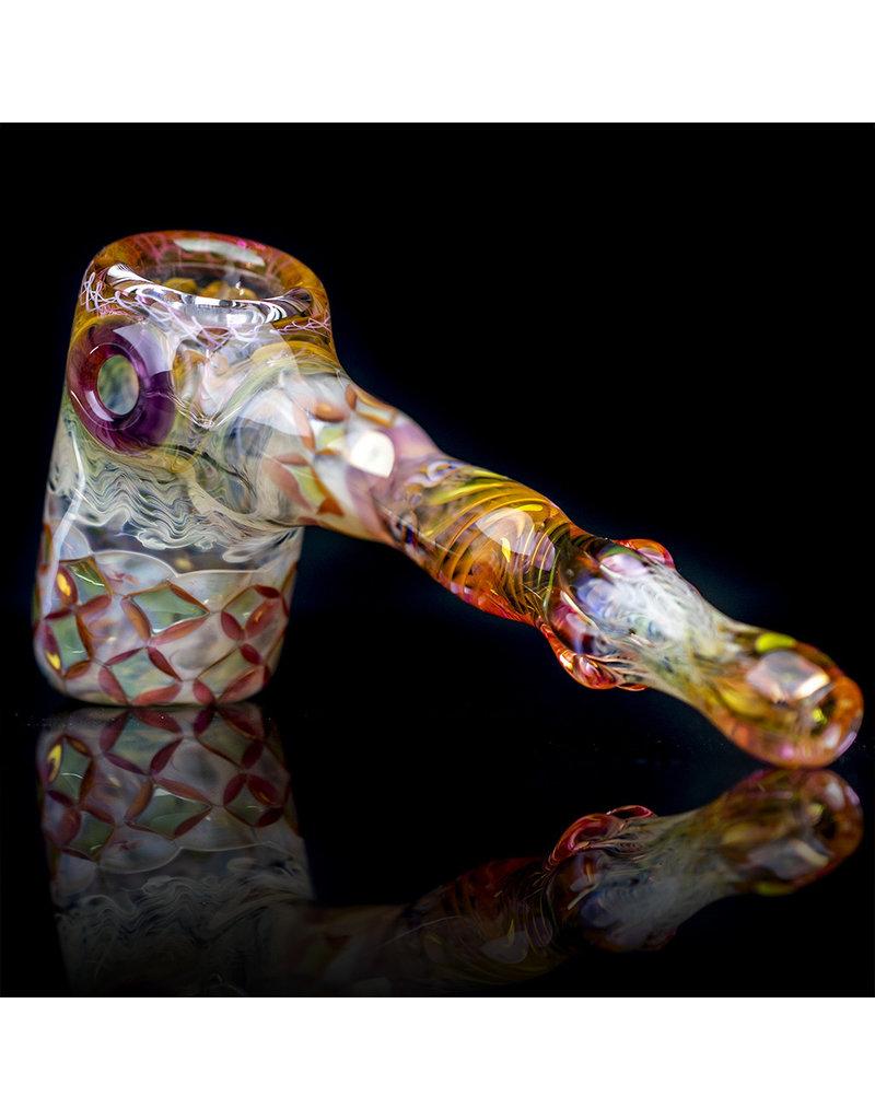 Hugh Glass Glass Pipe Dry Fume Hammer w/ Mushroom Marble (A) by Hugh Glass