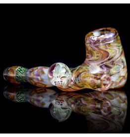 Hugh Glass SOLD Glass Pipe Dry Fume Sidecar w/ Skull Marble (A) by Hugh Glass