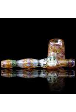 Hugh Glass Glass Pipe Dry Fume Sidecar w/ Skull Marble (A) by Hugh Glass