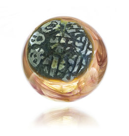 SOLD Small Glass Marble (A) by Trevy Metal