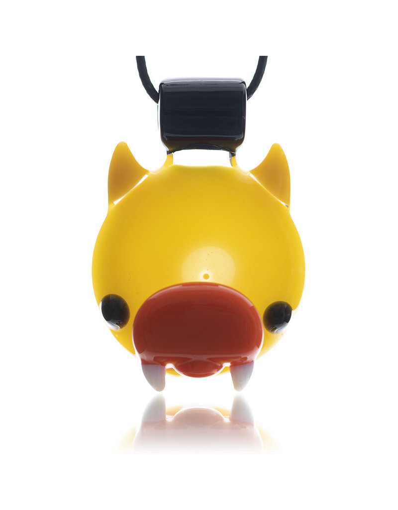 Ryno Glass Pendant Horned Duck (B) by RYNO