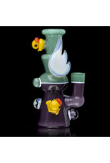 Ryno Dab Rig 10mm Aqua Mist / Wild Berry Satin & Moonstone Mini Tube by RYNO