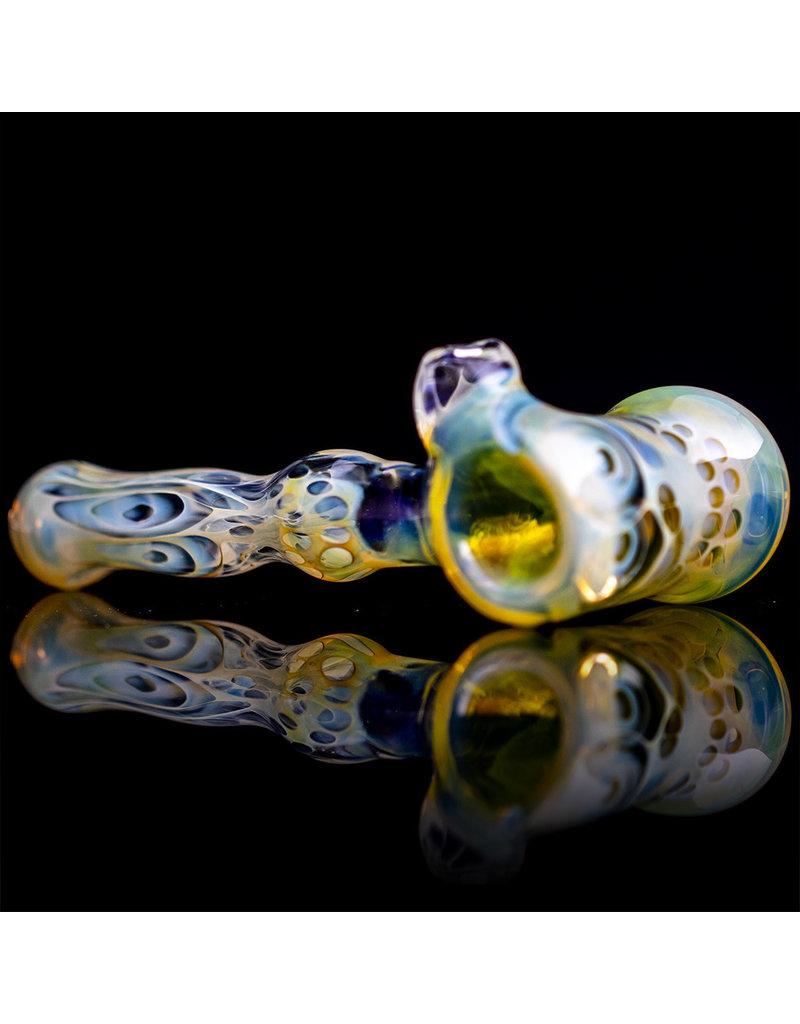 Brad Tenner Glass Pipe Dry Fume Skull Hammer (A) by BT Glass