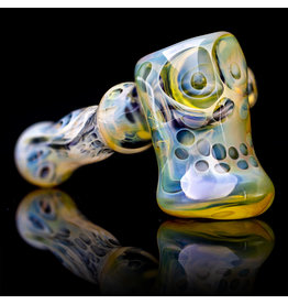 Brad Tenner SOLD Glass Pipe Dry Fume Skull Hammer (A) by BT Glass