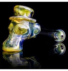 Ginny Snodgrass-Gietl SOLD Glass Pipe Dry UV Top Hat (C) by Ginny Snodgrass-Gietl