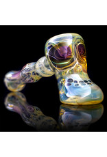 Brad Tenner Glass Pipe Dry Red Eyes Skull Hammer (J) by BT Glass