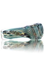 Citrus Chris Glass Dry Pipe Azul Black Cane over Fume I/O Thick Pipe by Chris Citrus